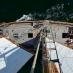 Blick vom Mast auf's Deck der SAMYRAH